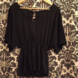 H&M metallic black shirt
